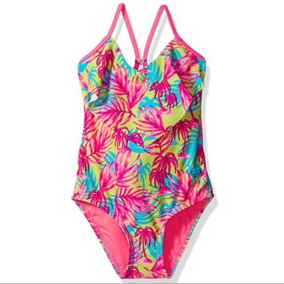 b2d07feefa Roxy Swim | Girls Palm Tree Suit Size 5 | Poshmark